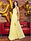 povoljno Maturalne haljine-Kroj uz tijelo V izrez Do gležnja Žoržet Prom / Formalna večer Haljina s Drapirano po TS Couture®