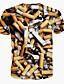 preiswerte Herren T-Shirts & Tank Tops-Herren T-shirt-Druck Freizeit Polyester Kurz
