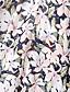 abordables Robes pour Femme-Femme Plage Bohème Coton Mousseline de Soie Balançoire Robe - Fleur, Fleur Taille Haute A Bretelles Maxi