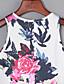 baratos Vestidos de Mulher-Mulheres Tubinho Vestido Floral Gola Redonda
