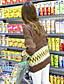 billige damesweaters-Dame Simpel / Sødt I-byen-tøj / Casual/hverdag Normal Cardigan Geometrisk,Flerfarvet Rund hals Langærmet Bomuld Forår / Vinter Medium