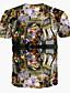 billige T-skjorter og singleter til herrer-Rund hals T-skjorte Herre Trykt mønster Aktiv Bohem Strand