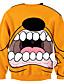 お買い得  メンズフーディー&スウェットシャツ-メンズ 活発的 ストリートファッション パンク&ゴシック カジュアル/普段着 スポーツ クラブ パーカー 3D印刷 特大の ラウンドネック マイクロ弾性 ポリエステル 長袖 秋 冬