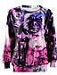 preiswerte Damen Kapuzenpullover & Sweatshirts-Damen Pullover Lässig/Alltäglich 3D-Druck Druck Rundhalsausschnitt Mikro-elastisch Baumwolle