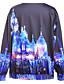 preiswerte Damen Kapuzenpullover & Sweatshirts-Damen Pullover Übergröße Lässig/Alltäglich Aktiv 3D-Druck Druck Rundhalsausschnitt Mikro-elastisch Polyester