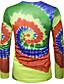 baratos Camisetas & Regatas Masculinas-Homens Camiseta Geométrica Decote Redondo