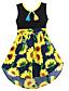 여자의 드레스 데이트 캐쥬얼/데일리 휴일 플로럴,봄 여름 면 민소매