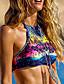 baratos Biquínis e Roupas de Banho Femininas-Mulheres Nadador Biquíni Estampado