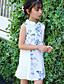 Dívka je Bavlna Květinový Patchwork Léto Šaty,Bez rukávů