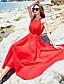 preiswerte Damen Kleider-Damen Alltag Ausgehen Strand Hülle Maxi Kleid Solide Rundhalsausschnitt Ärmellos Hohe Hüfthöhe Seide Sommer