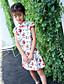Mädchen Kleid Blumen Sommer Ganzjährig Frühling Kurzarm