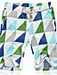 cheap Men's Pants & Shorts-Men's Simple Active Plus Size Cotton Linen Loose Shorts Pants - Geometric