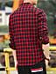 billige Herreskjorter-Bomull Skjorte Herre - Ensfarget Stripet Rutet Vintage Fritid Gatemote Sport Strand Klubb
