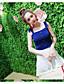 preiswerte Damen zweiteilige Anzüge-Damen Solide Einfach Lässig/Alltäglich Bluse Rock Anzüge,Gurt Sommer Ärmellos