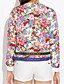 cheap Women's Blazers-Women's Daily Vintage Embroidered Floral Blazer Long Sleeves Spring