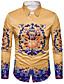 cheap Men's Shirts-Men's Street chic Shirt Print / Long Sleeve