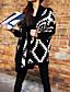 preiswerte Damen Pullover-Damen Ausgehen Langarm Strickjacke - Gestreift Hemdkragen