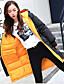 preiswerte Damen Daunenjacken & Parkas-Damen Daunenjacke Mantel,Lang Einfach Street Schick Ausgehen Lässig/Alltäglich Solide-Acryl Nylon Langarm