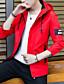 זול גברים-ג'קטים ומעילים-אחיד עם קפוצ'ון ספורט ושטח סגנון רחוב יומי מידות גדולות רגיל ג'קט בגדי ריקוד גברים, אביב סתיו פוליאסטר