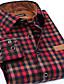 זול חולצות לגברים-גיאומטרי פשוט חולצה - בגדי ריקוד גברים / שרוול ארוך