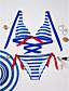 cheap Bikinis-Women's Fine Stripe Color Block Halter Neck Black Red Blue Pant Bikini Swimwear - Striped M L XL Black / 2pcs / Holiday