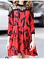 זול שמלות נשים-תחרה, פרחוני - שמלה סווינג בגדי ריקוד נשים
