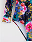 abordables Biquinis y Bañadores para Mujer-Mujer Floral Halter Arco Iris Una Pieza Bañadores - Floral L XL XXL