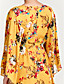 cheap Print Dresses-Women's Going out Street chic Flare Sleeve Cotton Loose Dress - Solid Colored Print V Neck