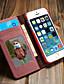 povoljno iPhone maske-Θήκη Za Apple iPhone SE / 5s / iPhone 5 Novčanik / Utor za kartice / sa stalkom Korice Jednobojni Tvrdo Tekstil