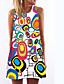 זול שמלות נשים-מעל הברך דפוס, גיאומטרי - שמלה ישרה רזה בגדי ריקוד נשים