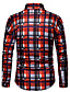 cheap Men's Shirts-Men's Cotton Shirt - Plaid Red XL