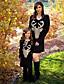 halpa Perheiden vaatesetit-Äiti ja minä Aktiivinen Perus Geometrinen Eläin Painettu Pitkähihainen Normaali Polvipituinen Normaali Puuvilla Mekko Musta