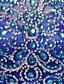billige Todelte kjoler-A-linje Besmykket Kort / mini Tyll To deler Cocktailfest Kjole med Krystalldetaljer av JUDY&JULIA