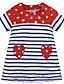 זול שמלות לבנות-שמלה מעל הברך שרוול ארוך פסים בנות ילדים