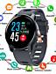 hesapli Akıllı Saatler-Akıllı İzle Dijital Modern Stil Stortif Silikon 30 m Su Resisdansı Kalp Ritmi Monitörü Bluetooth Dijital Günlük Dış Mekan - Siyah Beyaz Mavi
