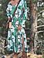 hesapli Print Dresses-Kadın's Kılıf Elbise - Geometrik Diz-boyu