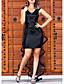 povoljno Ženske haljine-Žene Elegantno A kroj Haljina Jednobojni V izrez Iznad koljena