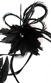 Cristal Plume Tissu Diadèmes Fascinators Fleurs 1 Mariage Occasion spéciale Fête / Soirée Décontracté De plein air Casque