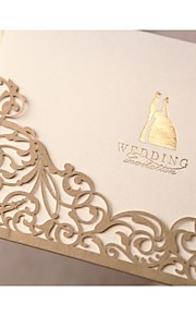"""Wrap & Pocket Wedding Invitations Invitation Cards Formal Style Classic Style Bride & Groom Style Pearl Paper 6 ½""""×4 ½"""" (16.6*11.5cm)"""