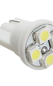 t10 3528 SMD 4-Ampoule LED lumière blanche pour la voiture (12V DC, jeu de 4 pièces)
