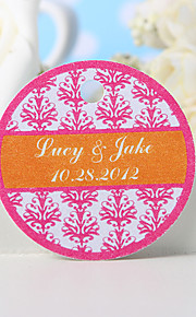 Personalized Favor Tag - Pink Floral Print (Set of 36) Wedding Favors