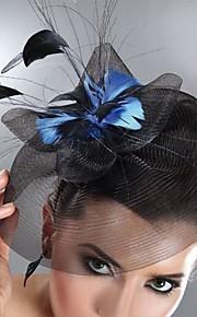 Tulle Plume Fascinators Coiffure with Fleur 1pc Mariage Occasion spéciale Casque