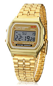 남성용 손목 시계 디지털 시계 디지털 골드 알람 달력 크로노그래프 디지털 참 - 골든 1 년 배터리 수명 / LCD / SODA AG4