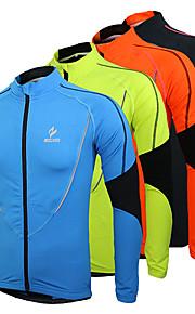 Arsuxeo Homme Veste de Cyclisme / Maillot de Cyclisme Vélo Maillot / Hauts / Top Garder au chaud, Doublure Polaire, Respirable Mosaïque