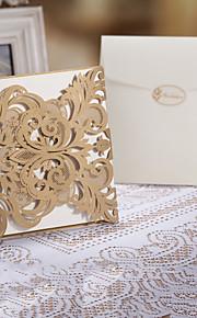 "Gate-Fold Wedding Invitations Invitation Cards Floral Style Art Paper 6 1/4""×6 1/4"" (16*16cm)"