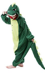 어른' 올인원 캐릭터 파자마 공룡 몬스터 점프수트 파자마 폴라 플리스 다크 그린 코스프레 에 대한 남자와 여자 동물 잠옷 만화 페스티발 / 홀리데이 의상