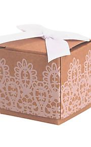 Cubique Papier durci Titulaire de Faveur avec Dentelle Boîtes à cadeaux