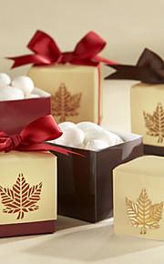 Cubique Papier durci Titulaire de Faveur avec Ruban Boîtes à cadeaux