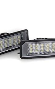 2pcs Automatisch Lampen 1.44W SMD 3528 18 Nummerplaatverlichting