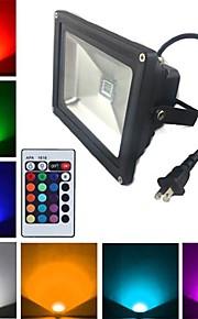 1900 lm LED-schijnwerperlampen 1 leds Krachtige LED Op afstand bedienbaar RGB AC 85-265V